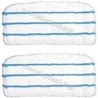 Deals2u365 (TM) Lot de 2 Pads de nettoyage pour sols principal pour Black Decker FSM1500 FSM1600 FSM1610 &FSM1620 FSMH1621 FSM1630 &FSMP20 Tinksy Blanc