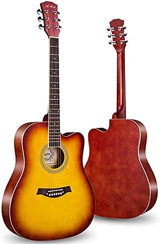 アコースティックギター ベニヤ初心者ギターフェイス単一のエントリピアノ練習アコースティックギター 初心者セット (色 : F, Size : 41 inches)