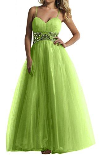 A forma di cuore tulle sera Toscana sposa moda giovane a lungo un'ampia per abiti da sposa Party ball vestimento verde 44
