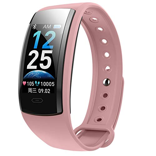 FEDULK iOS Android Smart Watch Monitor Heart Rate Bracelet Sport Fitness Activies Smart Wristband(Pink) (Best Android Phone Ranking)