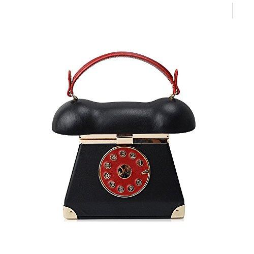 Sac WUHX Red Bandoulière Mobile Sac Espiègle Rétro Soirée Chaîne De Luxe Robe Style Téléphone De Robe Catwalk De À Main À De Sac Mode Parti Sac Mode Dîner Soirée Lady Style r7vrqw
