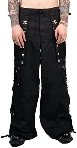 Tripp Men's Gothic Cyber Goth Industrial Techno Rave Metal Baggy Pants Jeans