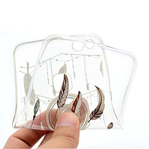 Funda Huawei P10 LITE AllDo Carcasa de Silicona TPU Funda Transparente Claro Caja Flexible Suave Carcasa Delgada Lisa Funda Ultra Ligero Smooth Thin Case Cover Bumper Anti Rasguños Anti Choque Carcasa Atrapasueños