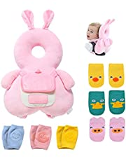 Umtiti Baby Head Protector Pad Safety Cushion for Walking & Crawling, Toddlers Head Safety Adjustable Backpack with Knee Pads & Anti-Slip Socks