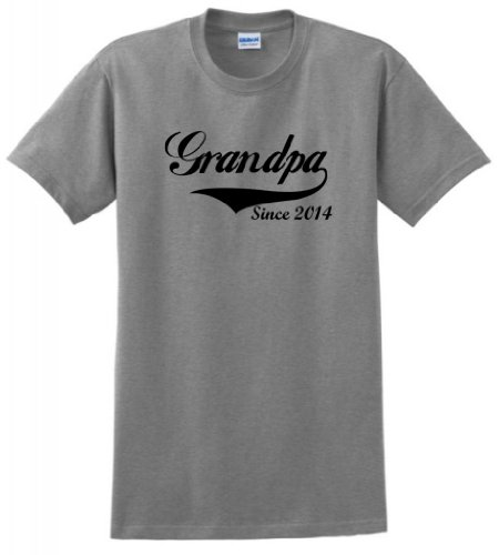 Father's Day Gift for Dad and Grandpa Grandpa Since 2014 T-Shirt 3XL Sport - Father Gifts Day 2014