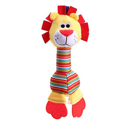 - brightric Newborn Baby Infant Animal Handbells Teether Bed Bells Toys (Lion)