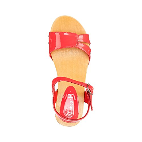 La Redoute Collections Clogs, Lackoptik Koralle