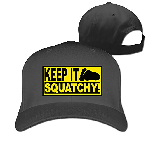EUNICORN SG Keep It Squatchy Ajustable Baseball Cap Cotton Black (Trailer Park Boys Hat)