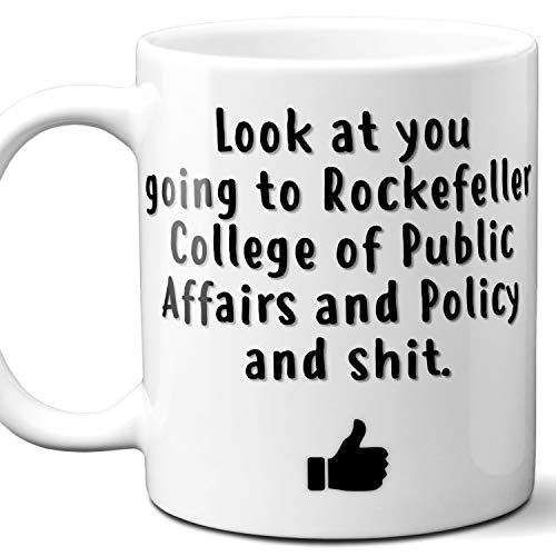 Rockefeller College of Public Affairs and Policy Acceptance Gift Mug For Student. 11 ounces.