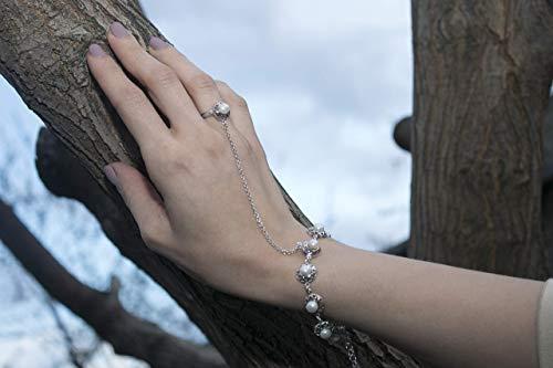Slave bracelet,sterling silver slave bracelet, hand chain, bracelet with ring, hand jewelry, statement bracelet, statement slave ()