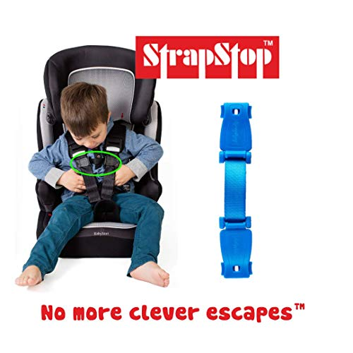 StrapStop – Multipurpose Child Safety Strap for Car Seats/Strollers/Backpacks and More – Crash Tested (Blue)