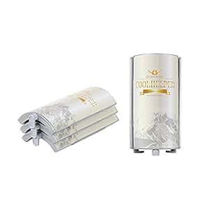 Chilling Effect Portable PET Bottle Holder Ice Pack COOL HELPER Large 3p 1Set (Royal White)