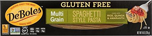 DeBoles Gluten-Free Multigrain Pasta, Spaghetti, 8 Ounce (Pack of 12)