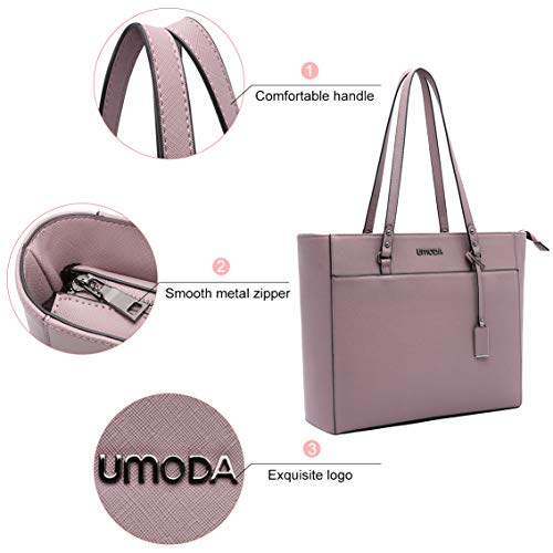 Laptop Tote Bag for Woman,13-15.6 Inch Laptop Briefcase Stand Up on its Own with Padded Compartment [Purple] Photo #5
