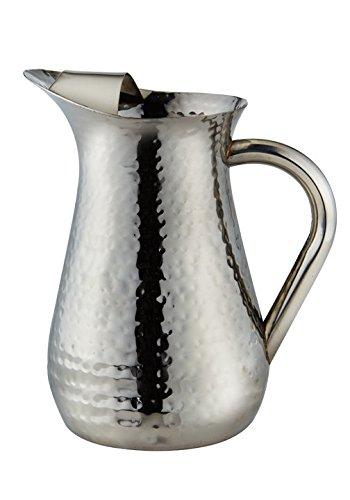 Elegance Hammered 48-Ounce Stainless Steel Pitcher