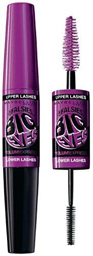 Maybelline New York Volum Express Falsies Big Eyes Waterproof Mascara, Very Black [205] 0.29 oz (Pack of 12)