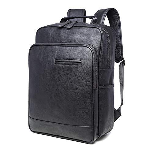 Los Mochila Del Ordenador Portátil Ocasional Piel Handbag Bolso De Black La Hombres Pu Cuaderno PvaqwY