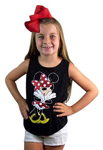 Minnie Black Uh Oh Open Back Tank for Girls -