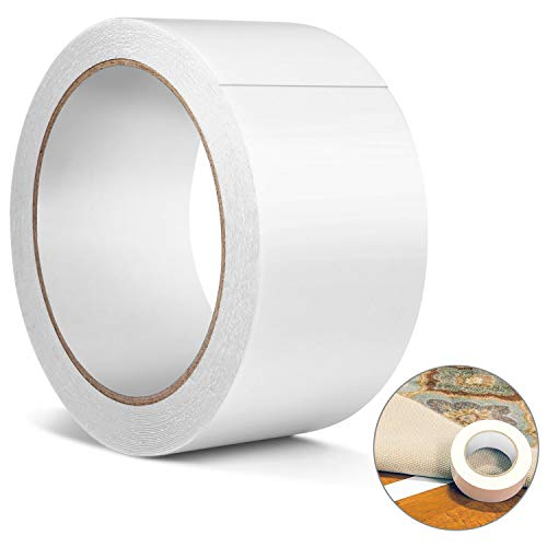 - Double Sided Carpet Tape, Heavy Duty Rug Gripper Anti Slip Adhesive for Rugs, Carpets, Mats, Strongest Hold for Hard Wood Floors, Tile, Concrete, Stair Treads, All Flooring,(Removable)(2 Inch10 Yard)