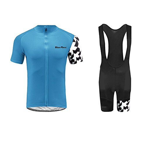 Uglyfrog 2017 Mens Short Sleeve Cycling Jersey+Short Bib Sets With Gel Pad Outdoor Sports Summer Style Bike ClothesCCJ11 from Uglyfrog