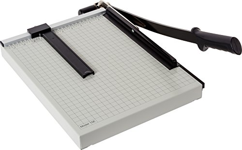 Dahle 15e Vantage Paper Trimmer, 15'' Cut Length, 15 Sheet, Automatic Clamp, Adjustable Guide, Metal Base with 1/2'' Gridlines, Guillotine Paper Cutter by Dahle