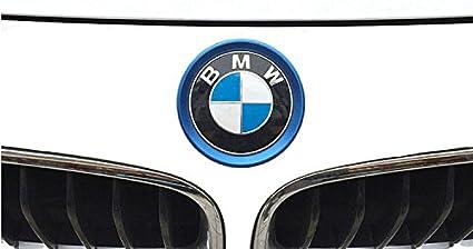Blue Duoles Car Front Rear Logo Decoration Cover Ring Trim Hood Emblem Ring for 2013-2016 BMW 3 Series 320Li 328Li 316//BMW 4 Series M3 M4