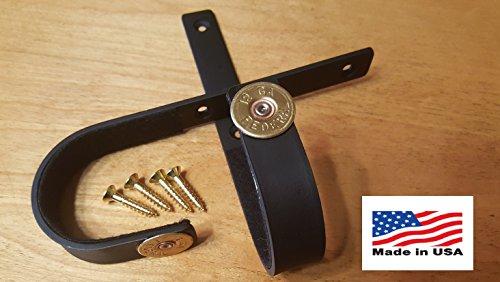 VERDICT BRACKETS Horizontal Gun Racks Shotgun Hooks Rifle Hangers Gun Storage (Black w/Black Screws, 12 Gauge) (Wall Shell Horizontal)