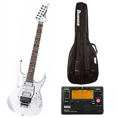 Steve Vai Signature Guitar - Ibanez Steve Vai Signature 6-String Electric Guitar (White) w/Gig Bag & Tuner