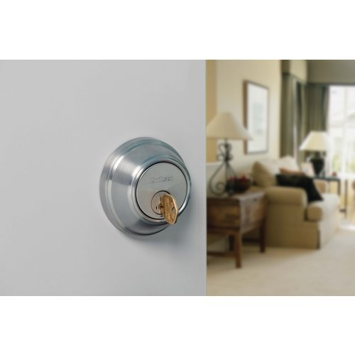 - Kwikset 785-S Double Cylinder SmartKey Deadbolt from the 780 Series, Lifetime Polished Brass