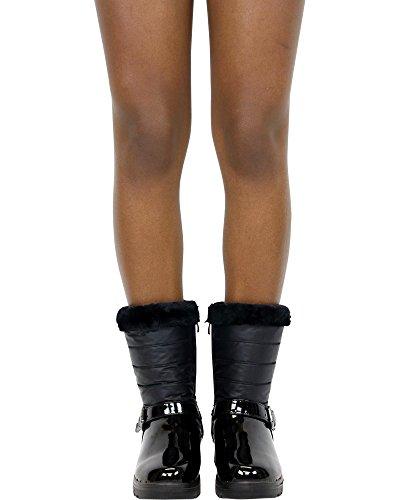 Stivale Invernale Da Donna Con Fibbia Adba One Gund Fashion (disponibile In 2 Colori), Nero, 7