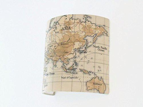 Applique murale carte du monde demi cylindre - demi-lune 25x25cm - globe mappemonde planisphère voyage idée cadeau - wall light