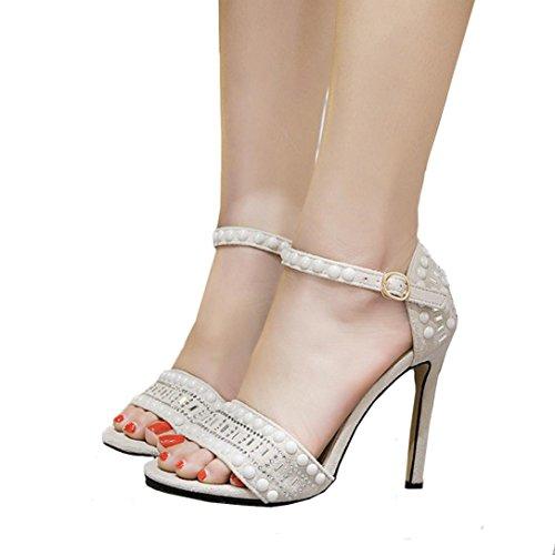 De De Sandalias Botas Sandalias Con Zapatos Tobillo Tacones Mujer Hebilla Roman Sexy Estrecha SeñOra Verano Mujer ZARLLE Punta La Blanco Zapatos Correa Sandalias 6q0pAnw