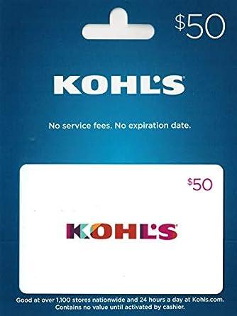 Amazon.com: Tarjeta de regalo de Kohl.: Tarjetas de regalo