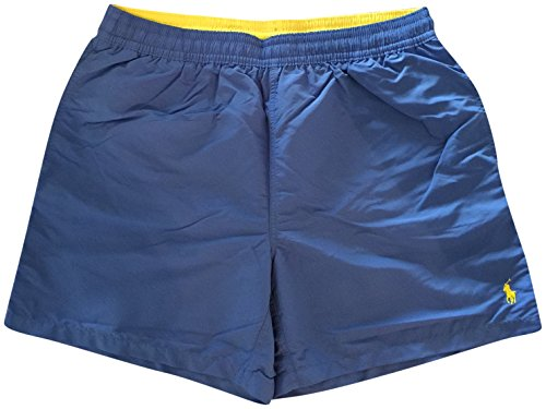 Polo by Ralph Lauren Mens Hawaii Swim Trunks Solid Blue XL
