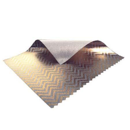 Sunbounce Mini Textile, 3x4' Zebra Gold & Silver with White Backing. by Sunbounce