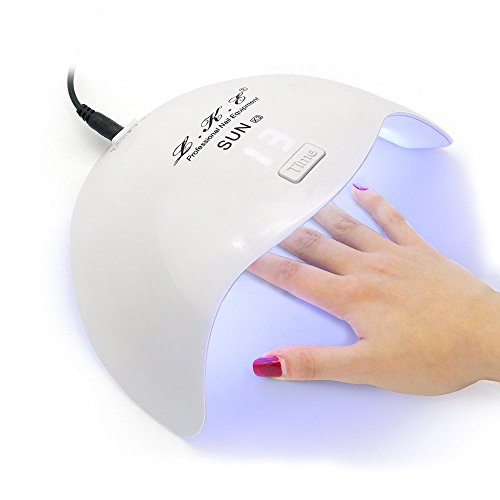 Gel Nail Polish UV Light LKE 24W Professional UV Led Nail Lamp with Automatic Sensor 4 Timers Shellac Nail Polish Dryer
