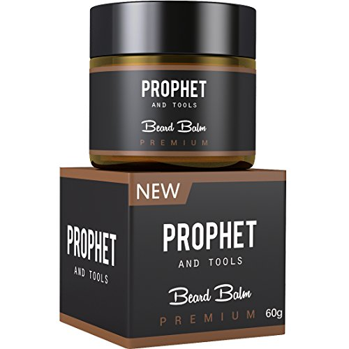 MUST HAVE Prophet and Tools 2 IN 1 Deluxe White Beard Balm-Wax For Styling – 60g Citrus Oil Scent, All-In-One Leave-in Conditioner, Softener, Hold and Faster Beard Growth – Organic For Men