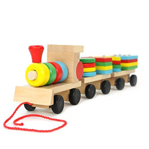 Wooden Block Train - 8