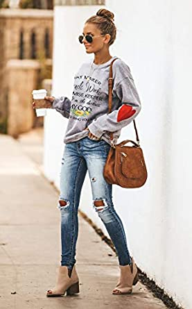 Easter Shirts for Women Long Sleeve Pullver Tops Sweatshirts Way Maker Miracle Worker