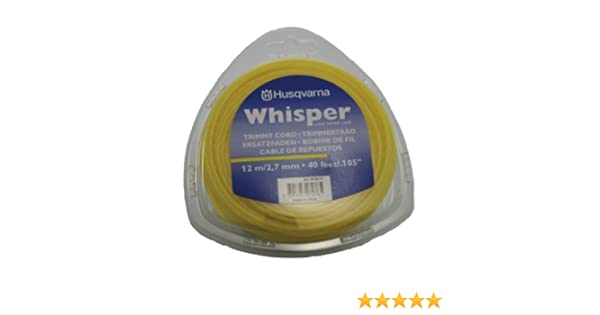 Hilo de corte Whisper 2.7 mm x 70 m Husqvarna: Amazon.es ...