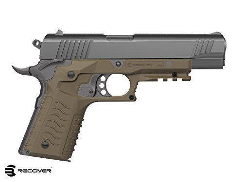 Recover  CC3 H 1911 Grip & Rail System, Desert Sand, - Grips Tactical 1911