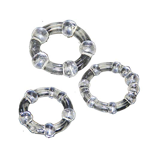 3pcs Euphoria Rooster Rings ing Impact Mens Cage Aid aid Erectile Dysfunction Stimulation Happy Toys,Transparent