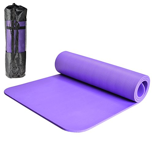 iTECHOR-Exercise-Health-Yoga-Mat-Eco-Friendly-NBR-039IN-Thick-Comfort-Non-Slip-Fitness-Mat-Purple