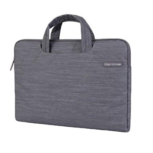 YiJee Mezclilla Fundas para Laptop Bolsa Portatil Macbook de 11 - 15.4 Pulgadas 15.4 Inch Gris