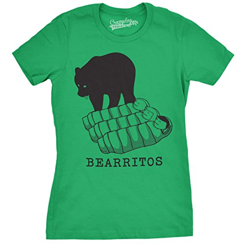 Crazy Dog TShirts - Womens Bearittos Funny T shirts Hilarious Bears and Burritos Tees Novelty T shirt - damen -