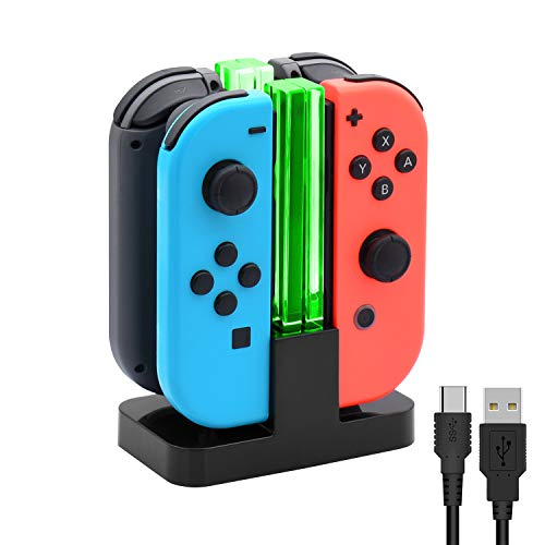 Charging Dock for Nintendo Switch Joy-Con,Charging Station for Nintendo Switch with a USB Type-C Charging Cord from FYOUNG