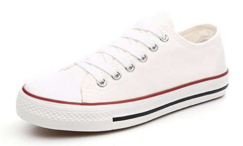 Classic Blue 35~44 Women Size Large Mouth Shallow Canvas Femme Chaussure White Shoes Shoe Low 7UqBEwB