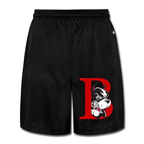(SYYSP Men's Boston University Team Shorts Sweatpants Color Black Size XXL)