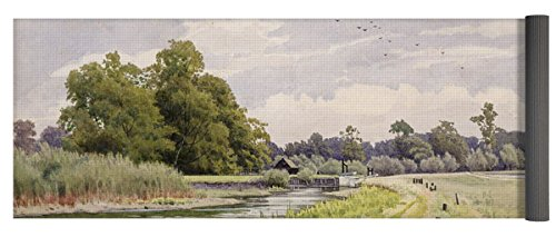 Pixels Yoga Mat w/ Bag 'On The River Ouse Hemingford Grey'
