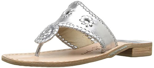 Jack Rogers , Tongs pour femme Argent argent UK / Medium (B, M) US / EU womens - Argent - argent, 40